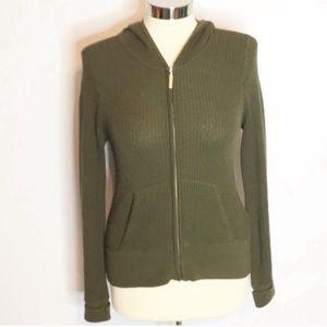 Vince waffleknit hoodie army green